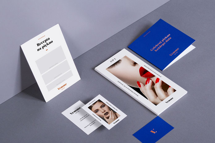 Vemme Day Spa – graphic and brand design by Kommunikat Studio.