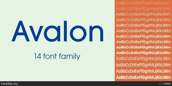 Sans serif in 14 styles.