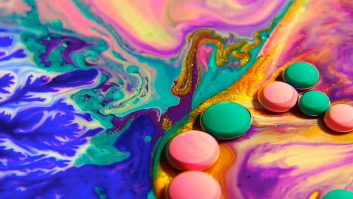 Vibrant colorful liquids.