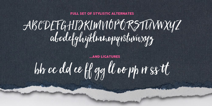 Alternates and ligatures.