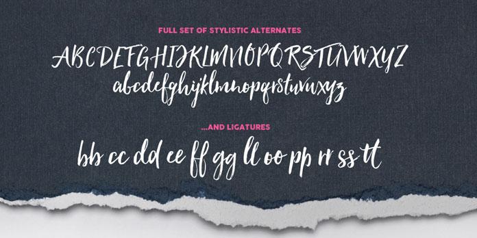 Alternates and ligatures.