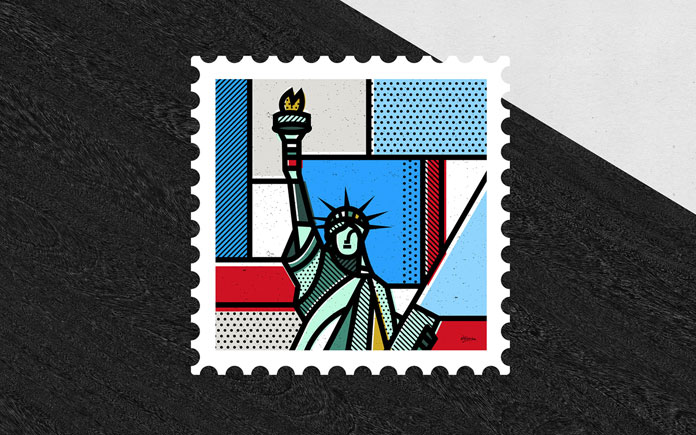 New York stamp.
