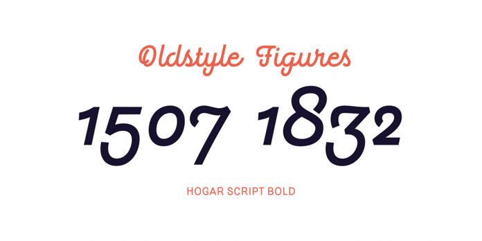 Oldstyle figures.