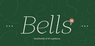 Bells sans serif font family from TypeType.
