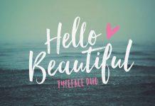 Hello Beautiful typeface duo by Nicky Laatz.