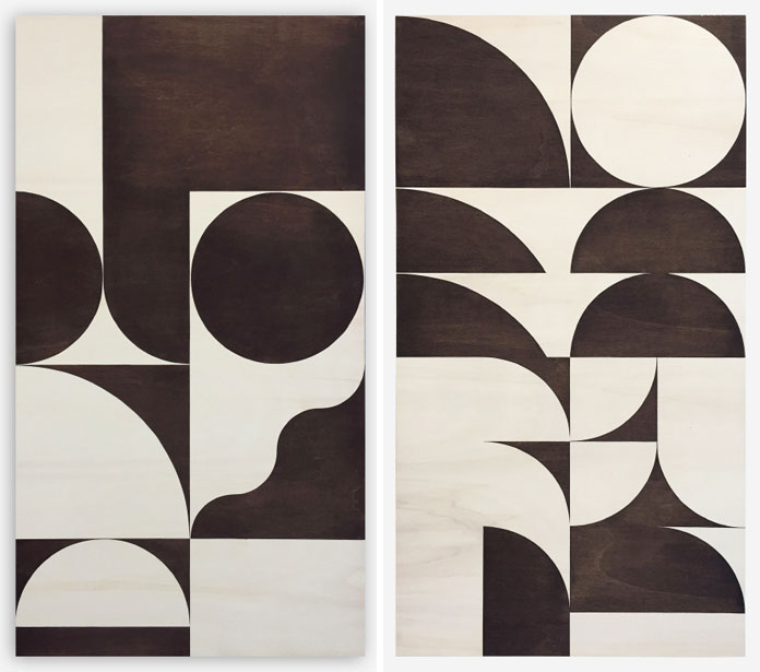 Louis Reith, Soil on wooden panels, 2016 – 2015.