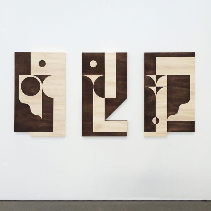 Louis Reith, Soil on wooden panels, 2016.