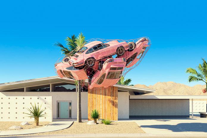Pink Carrera installation.