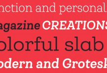 Queulat Soft font family from Latinotype.