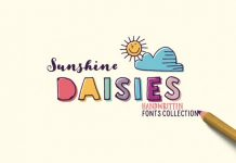 Sunshine Daisies font collection from My Creative Land.