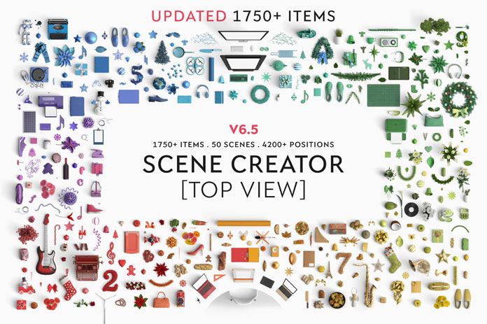 Top view items.