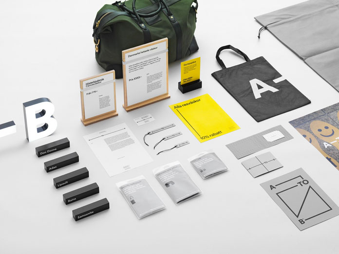 A-TO-B brand identity by Stockholm Design Lab.