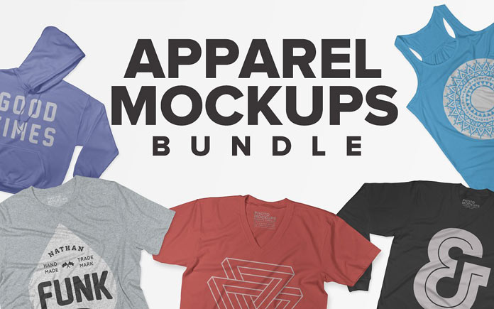 Apparel mockups bundle.