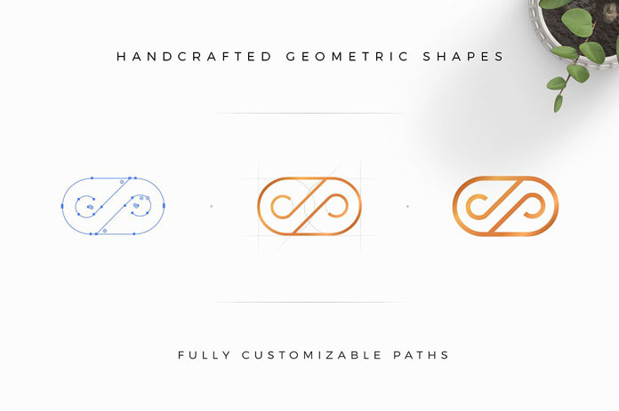 Customizable paths thanks to handcrafted vector shapes.