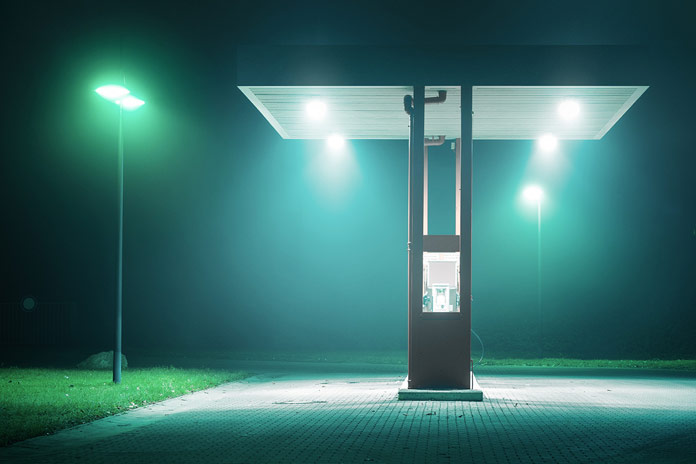 Gas station.