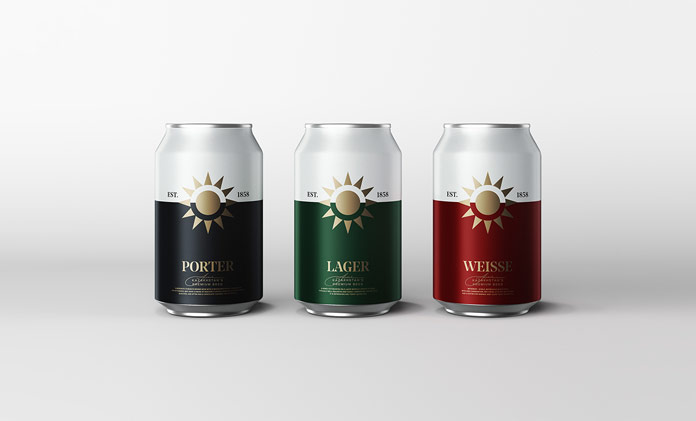 Beer packaging concept by Molto Bureau.