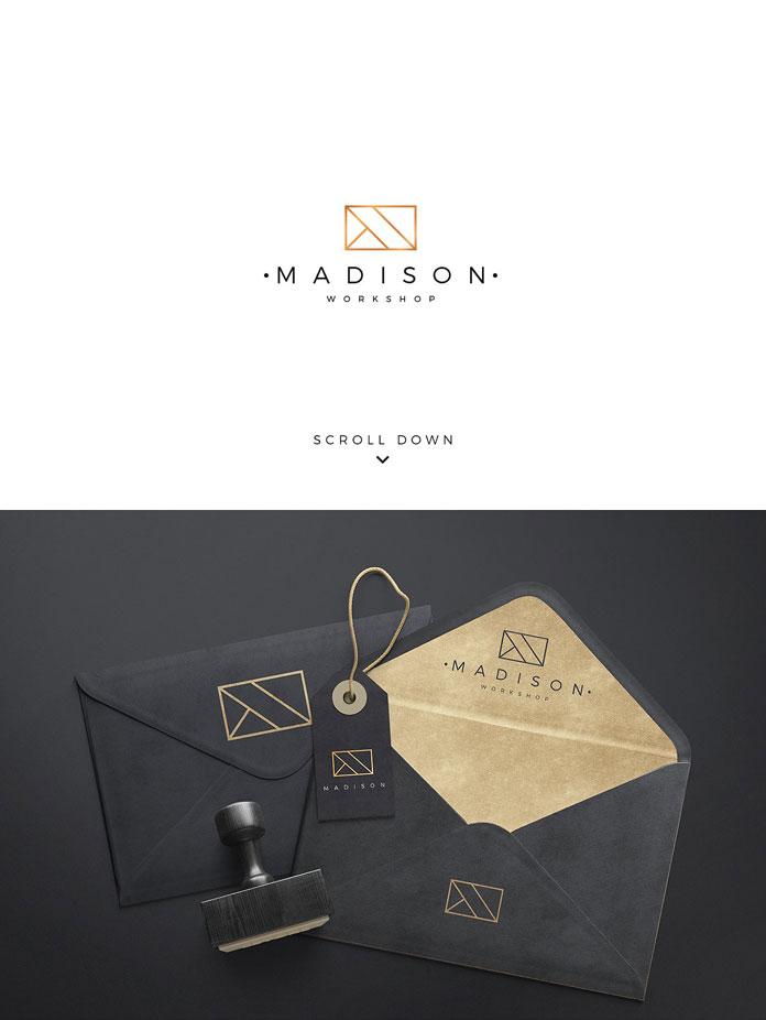 Modern and minimalist graphic design.