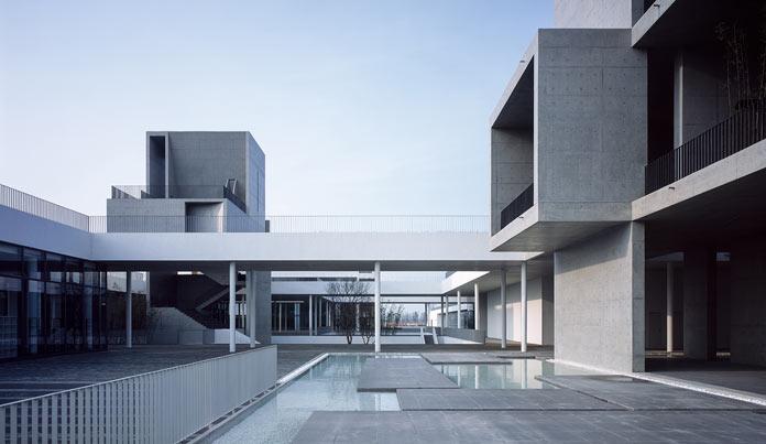 Courtyards and walkways.