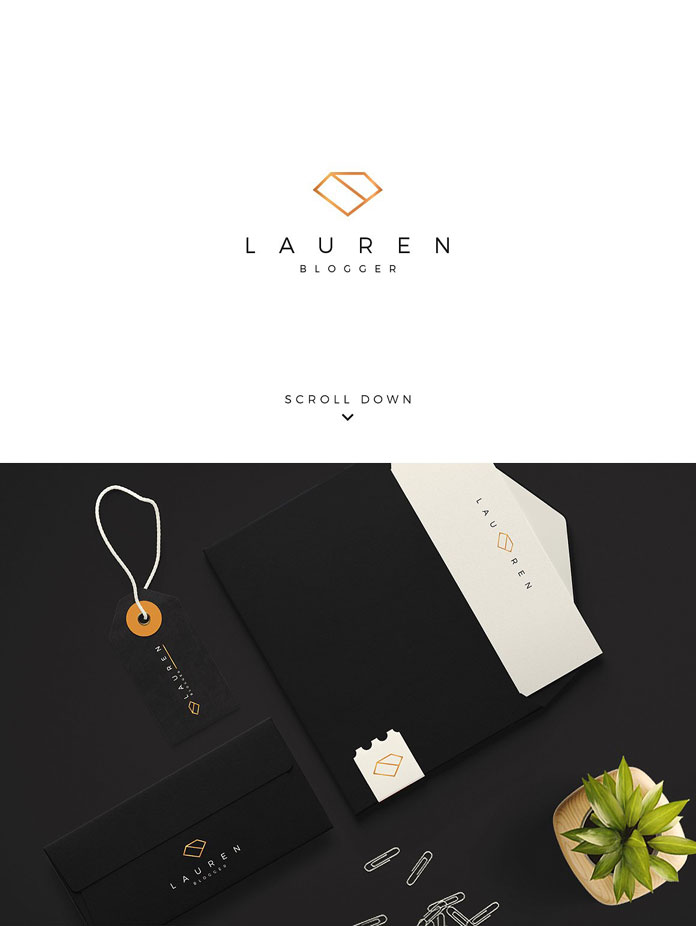 Sophisticated brand and stationery design.
