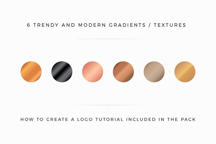 6 trendy gradients and textures.