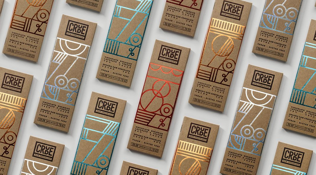 CRUDE – Raw Chocolate – brand and packaging design by Happycentro.