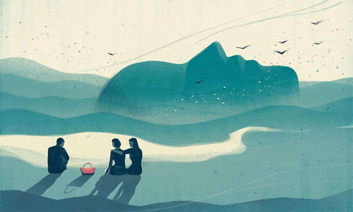 Illustration for The New York Times Sunday Review, My Lost Mother's Last Receipt, a beautiful story by Mara Wilson.