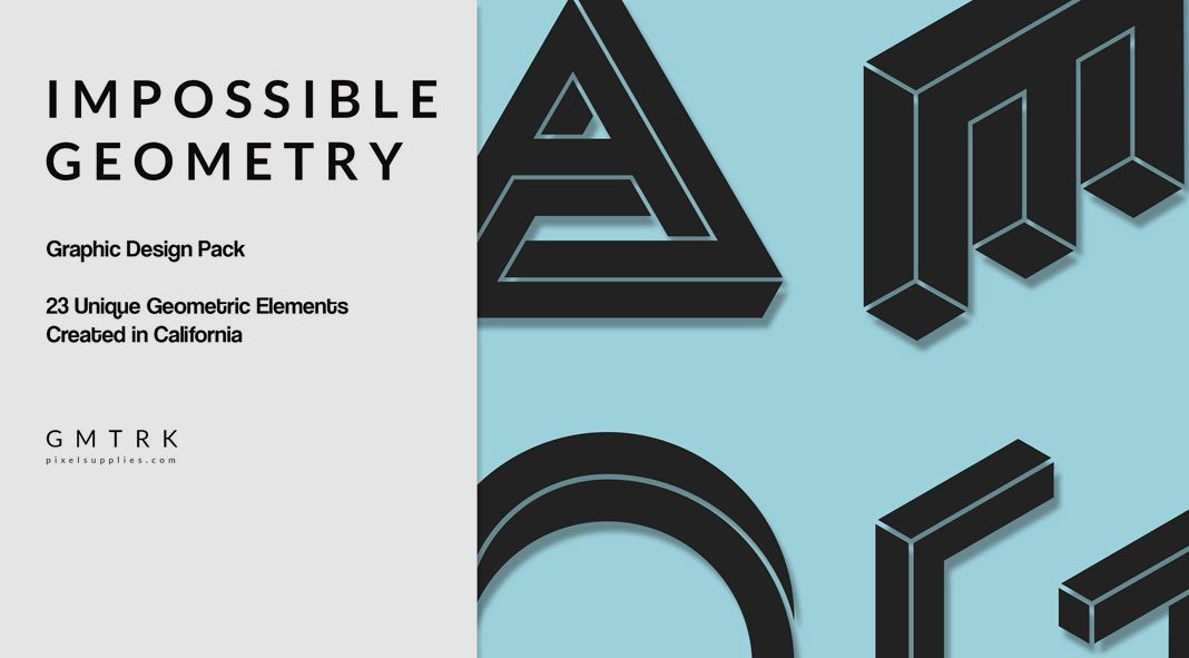 Impossible geometry surreal graphic design elements for Architecture impossible