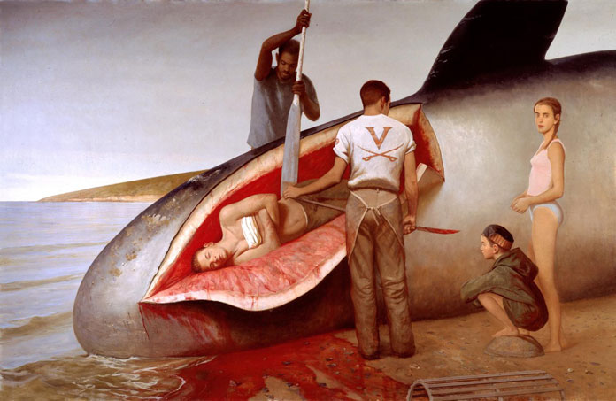 Leviathan, Bo Bartlett, oil on linen, 89 x 138, 2000