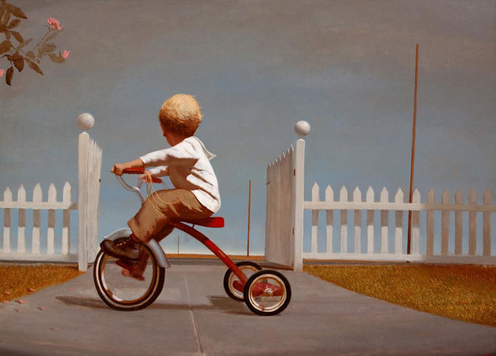 Open Gate, Bo Bartlett, oil on linen, 48 x 66, 2011