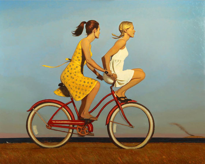 The Day Everything Changed Forever, Bo Bartlett, oil on linen, 48 x 60, 2016