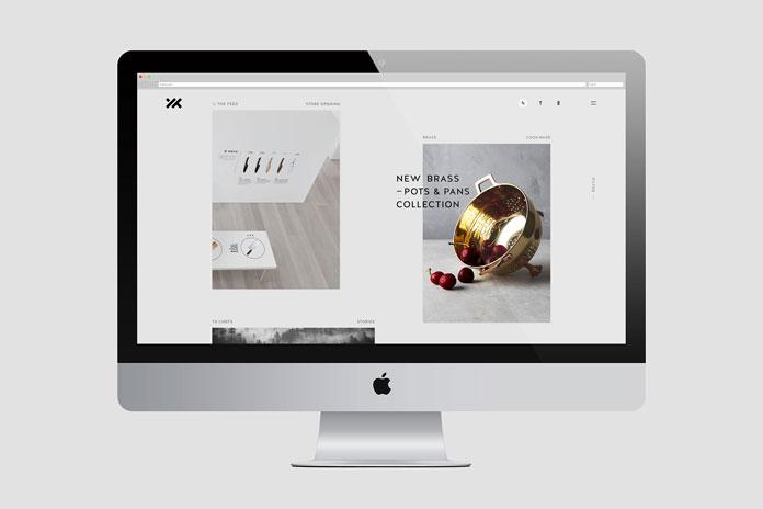 Yx Cutlery – web design.