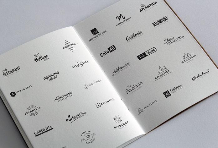 120 Minimal Typography Logos Bundle.