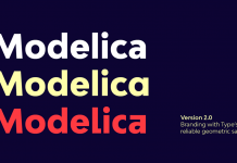 Bw Modelica font family from Branding with Type.
