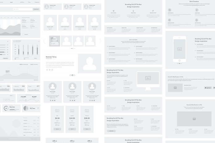 Karuki Wireframe Kit by UX/UI Designer Karuki Wireframe Kit.