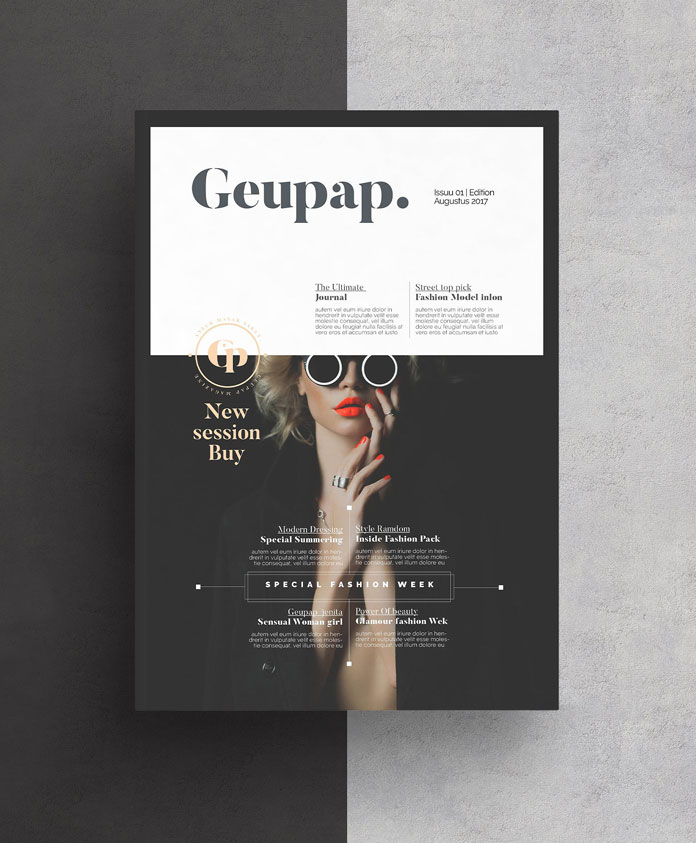 Magazine cover - full brochure template from AlfianBrand.