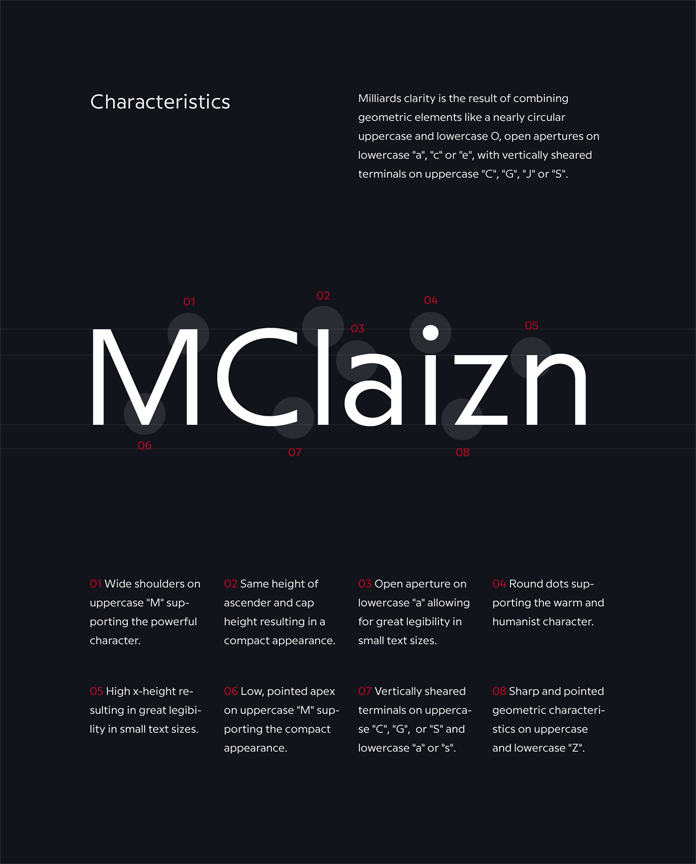 Milliard Font Family by René Bieder