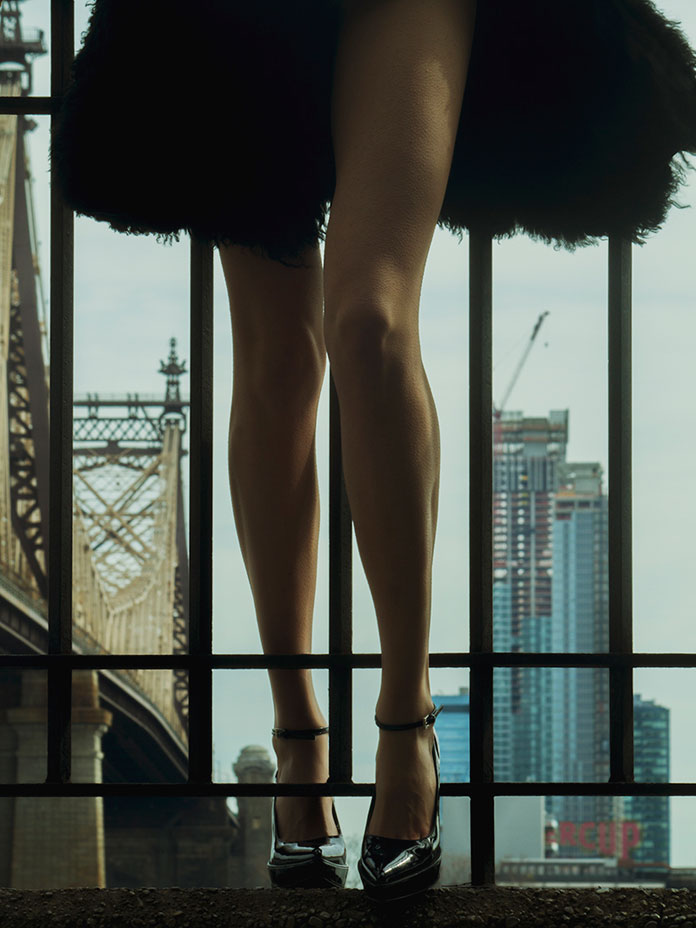 Shaughnessy Brown's legs shot in New York City.