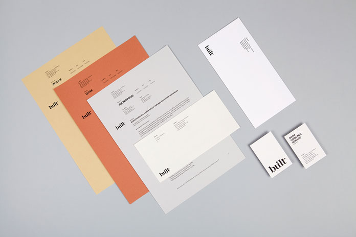 Stationery created for architecture studio built.