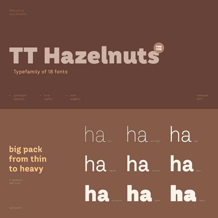 TT Hazelnuts font family from TypeType.