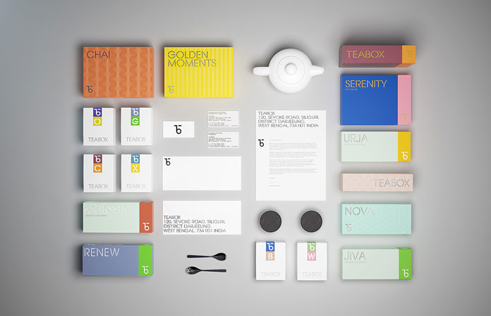 Teabox brand and packaging design by Natasha Jen.
