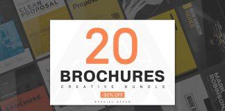 20 creative brochure templates.