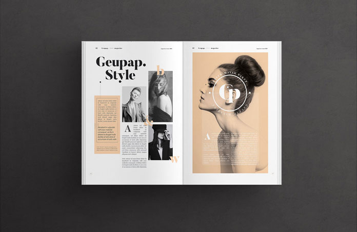 Brochure and magazine Adobe InDesign template.