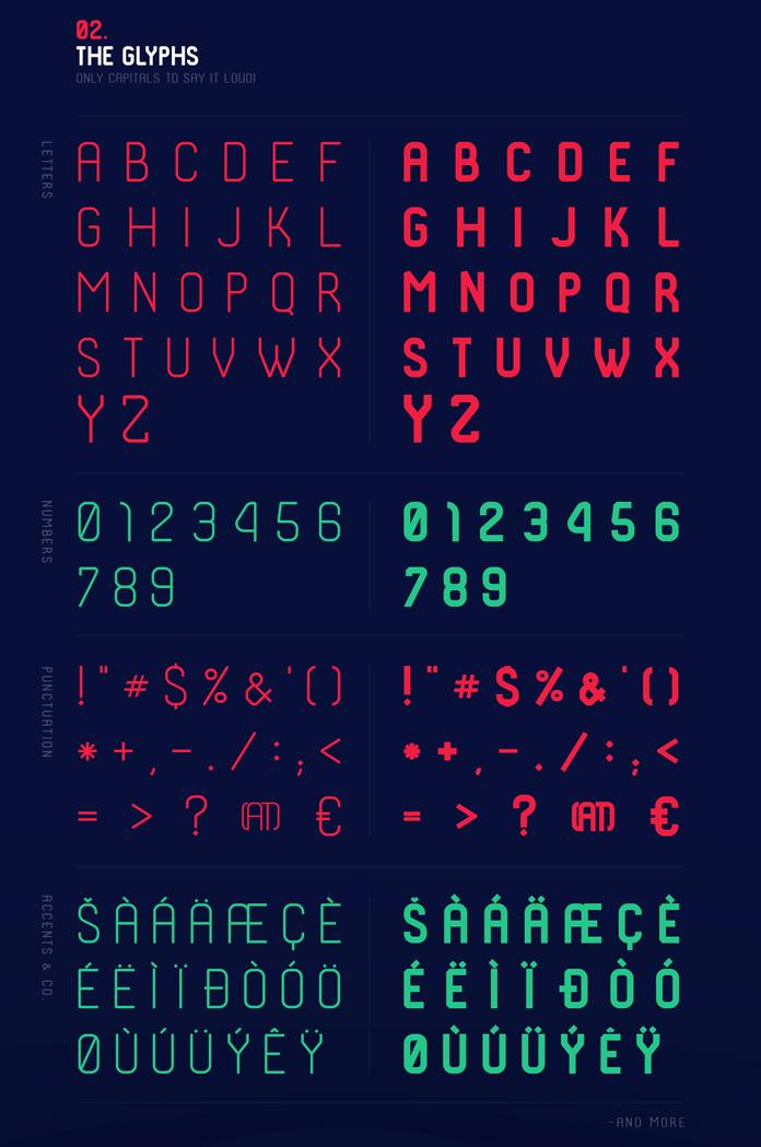 The glyphs.