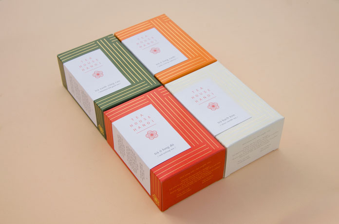 Boxes of high-quality teas from Vietnam.