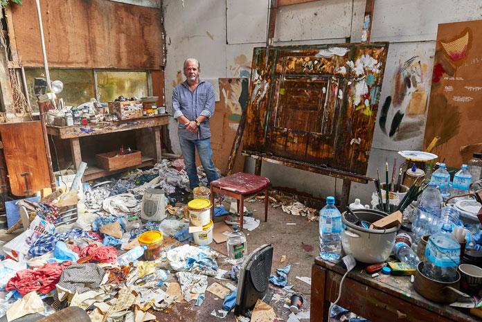 John Baird in his studio.