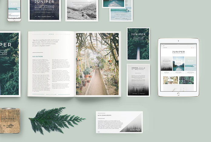 The bundle includes numerous images and templates for both print and web.