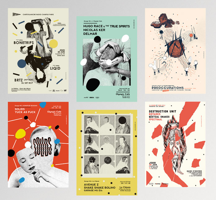 Unique poster illustrations.