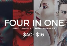 4 in 1 Photoshop Actions Bundles