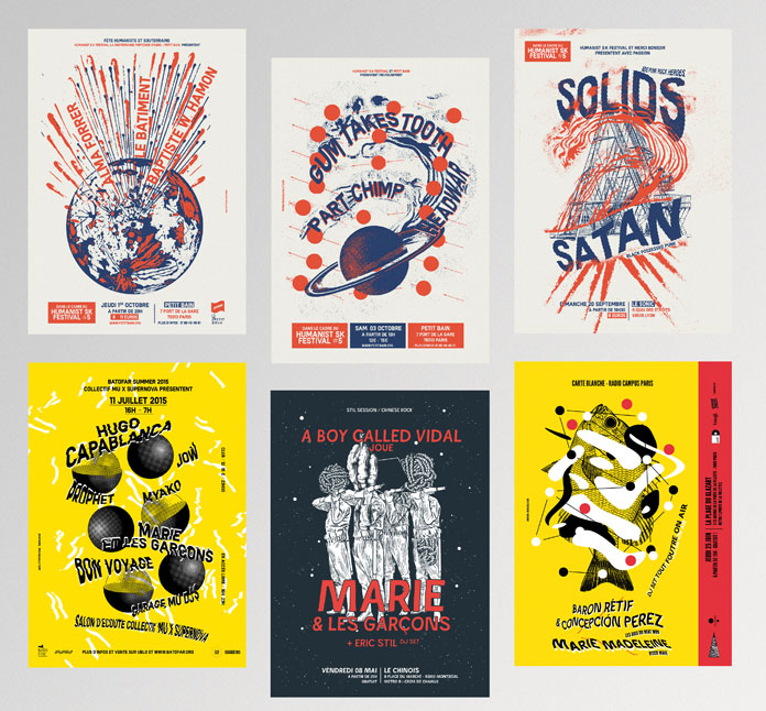 All prints were created by French illustrator and graphic designer Michael Sallit.