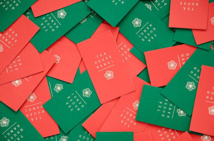 Tea House Hanoi brand identity.